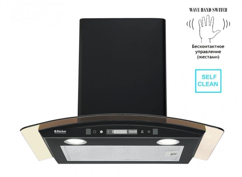 Вытяжка Backer QD60E-MC BLACK 12K