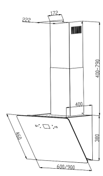 Вытяжка Backer AH60E-MC-F1 BLACK