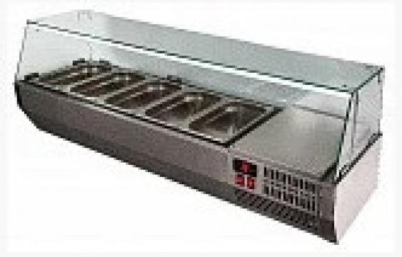НАСТОЛЬНАЯ ВИТРИНА VT2v-G на 5 GN 1/3 для пиццы, шаурмы, салатов