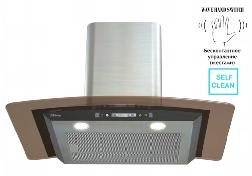 Вытяжка  Backer  QD60E-MC  INOX  12K Black Glass